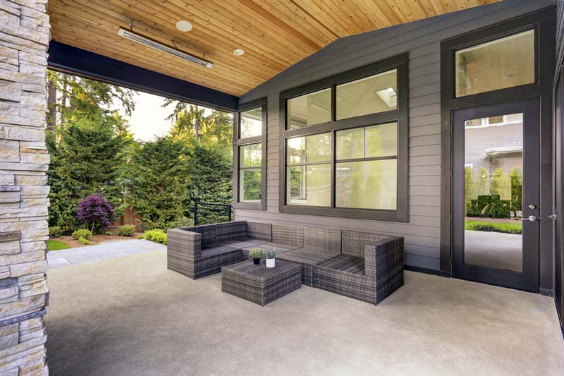concrete patio installation